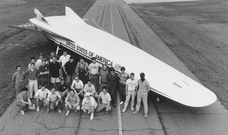 Students in Front of Airplane